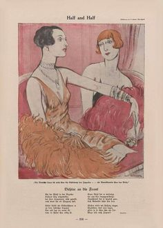 Aus dem Simplicissimus, um 1928.