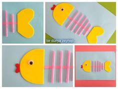 #preschool #okulöncesi #kindergarten #balık #sanatetkinliği #kidscraft #pipet