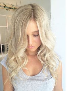 Icy blonde love!