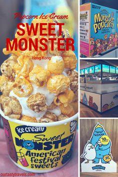 Sweet Monster Popcorn Ice Cream in Hong Kong -- ourtastytravels.com