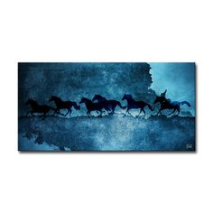 Saddle Ink Equestrian Painting Print on Canvas