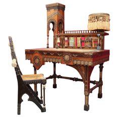 Desk and Chair  Carlo Bugatti, 1890  1stdibs.com