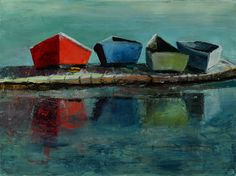 Dory Dock. Love this piece by Susan Fehlinger!