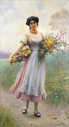 Image: Eugen von Blaas - Spring Flowers