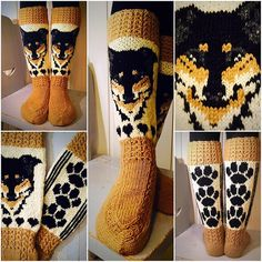 Ravelry: Vuffe-sukat pattern by Titta Järvensivu Knitting Charts, Knitting Socks, Hand Knitting, Knitted Slippers, Knitted Hats, Knitting Patterns, Crochet Patterns, Knit Art, Fair Isle Knitting