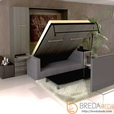 Decorate your room in a new style with murphy bed plans Murphy Bed Couch, Murphy Bed Plans, Murphy Beds, Metal Tree Wall Art, Metal Art, Foldable Bed, Decorate Your Room, Bed Sizes, Cushions On Sofa