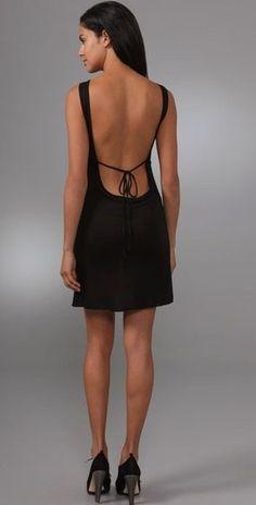 Vestidos cortos de noche con espalda descubierta
