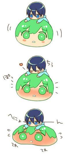 Mako ball ... Free! - Iwatobi Swim Club, haruka nanase, haru nanase, haru, nanase, haruka, makoto tachibana, makoto, tachibana, free!, iwatobi