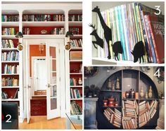 Book display ideas. Credit: BHG, G-Select, Bobo's Intriguing Objects