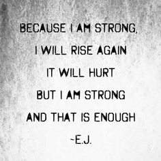 Positive Quotes For Life, Life Quotes, I Will Rise, I Am Strong, Word Play, Writing Quotes, It Hurts, Positivity, Math