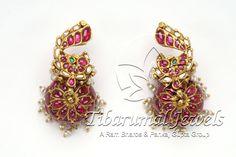 Kundan Jhumka   Tibarumal Jewels   Jewellers of Gems, Pearls, Diamonds, and Precious Stones