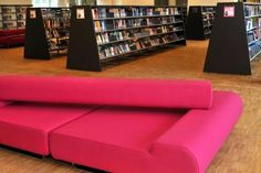 Curacao   Indera Project For Library Genk   Super Modular Sofa   Pink  Version