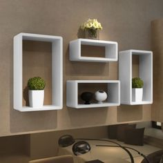 Cube shelf set of 4 White   Grab this Wonderful Novelty. Take a look LUXURY HOME BRANDS and buy this bargainNow!