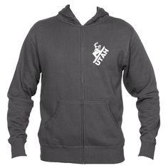 Utah Snowboarding - Men's Full-Zip Hooded Sweatshirt/Hoodie