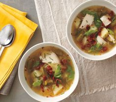 Spicy Fish and Potato Soup With Bacon and Chives recipe