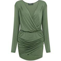 Yoins Plunge Neck Wrap Mini Dress