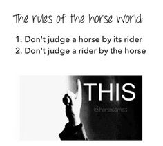 Don't judge the horse