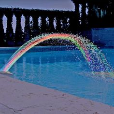 pool accessories At your next pool party put on a show of water and light withColorfoul Pool Accessory Lights. The LED lights will change color automatically to shoot out different colors so you can enjoy the colorful water. Swimming Pool Fountains, Swimming Pool Waterfall, Swimming Pool Lights, Swimming Pools Backyard, Swimming Pool Designs, Swimming Pool Accessories, Pool Fun, Diy Pool, Backyard Pool Landscaping