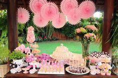 Jardim da Minnie rosa