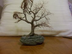 TAE tree - Making of copper wire tree - Bonsai Penjing style (Moyogi) Peace Art, Wire Trees, Miniature Trees, Wabi Sabi, Copper Wire, Bonsai, Sculpture Art, Candle Holders, Miniatures