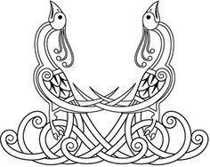 viking art peacock - Google Search