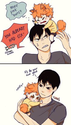 Hinata and Kageyama - 3| aww, this is so cute ^^