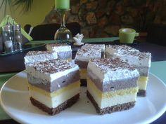 Habos csokis - vaníliakrémes szelet!
