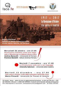 Ferrara: Ciclo di incontri su 1917-2017. La Rivoluzione dOttobre tra mito e realtà