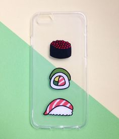 ♥ Hand painted sushi phone cases    ♥ All cases will be made to order    ♥ This design is individually hand-painted using special permanent acrylic paints onto crystal clear plastic. It is then finished with two coatings of varnish to ensure maximum durability.    - The design is painted on the insid