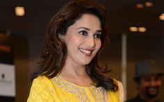 Lataa kuva Madhuri Sanoi, hymy, Intialainen näyttelijä, ruskeaverikkö, Bollywood, kauniita naisia