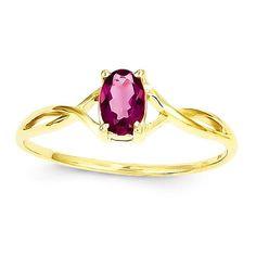 14k Yellow Gold Genuine Pink Tourmaline Birthstone Ring :http://www.stormgems.co.za/product/14k-yellow-gold-genuine-pink-tourmaline-birthstone-ring/