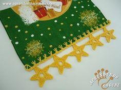 ▶ Barrado de Croche Estrelas de Natal - Aprendendo Crochê - YouTube