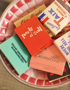 I love to collect matchbooks