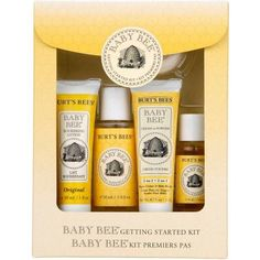Burt's Bees Baby Getting Started Gift Set 5 Trial Baby Skin Care Products-Lotion Shampoo & Wash Daily Cream-to-Powder, Baby Oil & Soap -- 5 Kit Baby Your Baby, Baby Kit, Burts Bees, Baby Skin Care, Baby Supplies, Thing 1, Natural Baby, Au Natural, Organic Baby