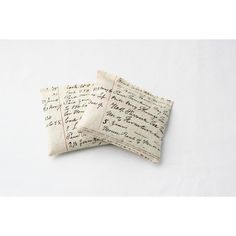 Lavender Drawer Sachets, Cream Beige Antique Ledger Handwriting,... (€21) ❤ liked on Polyvore featuring home, home decor and antique home decor