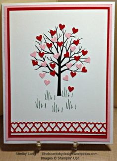 Valentine's Sheltering Tree by Shel's Cards – Cards and Paper Crafts at Splitcoaststampers L'abri de la Saint-Valentin par Shel's Cards – Cartes et artisanat en papier chez Splitcoaststampers Homemade Valentine Cards, Valentines Day Cards Handmade, Homemade Cards, Hand Made Greeting Cards, Greeting Cards Handmade, Karten Diy, Valentine's Cards For Kids, Betty Crocker, Creative Cards