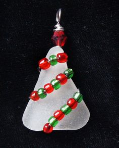 Cute charm using sea glass and beads as ornaments