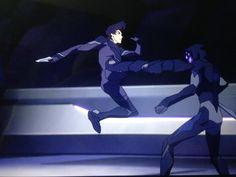 Keith fights the Marmora Galra in a fighting challenge from Voltron Legendary Defender