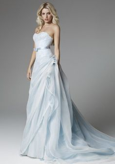 Soft Blue Wedding Dress- Blumarine Bridal Spring 2013 | #EndoraJewellery - Custom Swarovski crystal jewelry