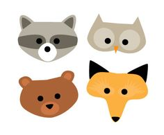 Great woodland creature masks to print out and decorate or color