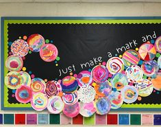 """Caroline on Instagram: """"A close up look at our Kindergarten dots! 😍 Inspired by the book """"The Dot"""" by Peter H. Reynolds """"Just make a mark and see where it takes…"""""""
