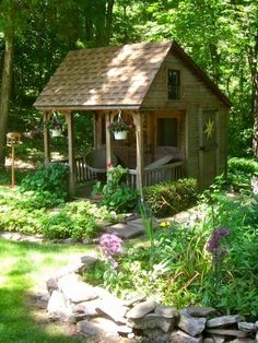 Pretty little potter shed.  Slightly larger to make into a summer kitchen out by the garden.