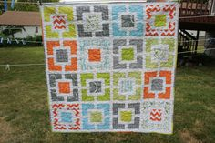 Baby Boy Quilt, like the design, not the fabric choice so much.