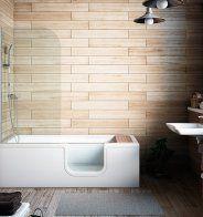 Petite baignoire combiné bain douche, VitrA - Marie Claire Maison