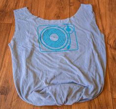 Upcycled Tshirt Purse  Turntable Print by AmyHasDesign on Etsy, $10.00