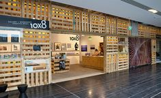 """Sydney-based Loopcreative has designed a pop-up """"creative playground"""" for brand x using salvaged shipping palettes. Bar Design, Shop Front Design, Booth Design, Shop Interior Design, Retail Design, Store Design, Interior Tropical, Architect Magazine, Retail Interior"""