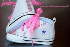 baby  Converse Swarovski Rhinestones shoes, 0-6 month. $85.00, via Etsy.
