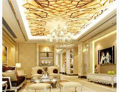 3D wallpaper custom mural non-woven wallpaper Zenith condole top European noble luxurious elegant art ceiling wallpaper #Affiliate