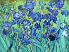 Image shared by Beatriz. Find images and videos about art, van gogh and lilies on We Heart It - the app to get lost in what you love. Art Van, Van Gogh Art, Vincent Van Gogh, Picasso, Iris Painting, Van Gogh Paintings, Impressionist Art, Famous Art, Dutch Artists