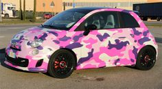 Total car wrapping - camouflage rosa. Progettazione grafica e stampa digitale Pubblinova, Wrapping ForCar Sport